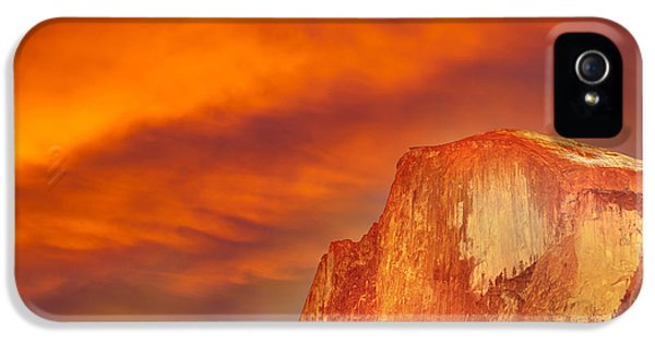 Epic iPhone 5 Cases - Fire Over Half Dome iPhone 5 Case by Az Jackson