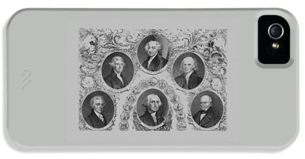 White House iPhone 5 Cases - First Six U.S. Presidents iPhone 5 Case by War Is Hell Store