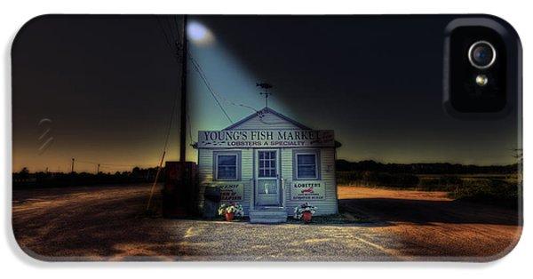 Night iPhone 5 Cases - Fish Market Cape Cod iPhone 5 Case by Dapixara Art