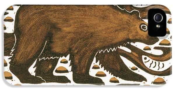 Fishing Bear IPhone 5 / 5s Case by Nat Morley