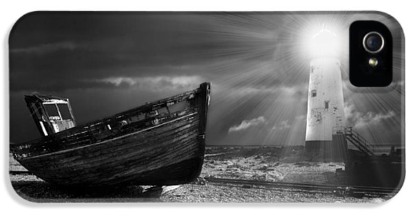 Net iPhone 5 Cases - Fishing Boat Graveyard 7 iPhone 5 Case by Meirion Matthias