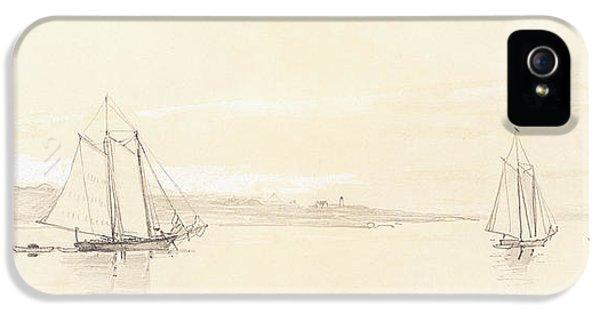 Winslow Homer iPhone 5 Cases - Fishing Fleet at Gloucester iPhone 5 Case by Winslow Homer