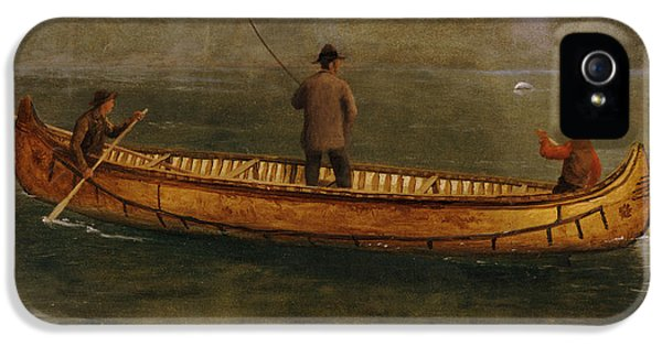 Fishing From A Canoe IPhone 5 / 5s Case by Albert Bierstadt