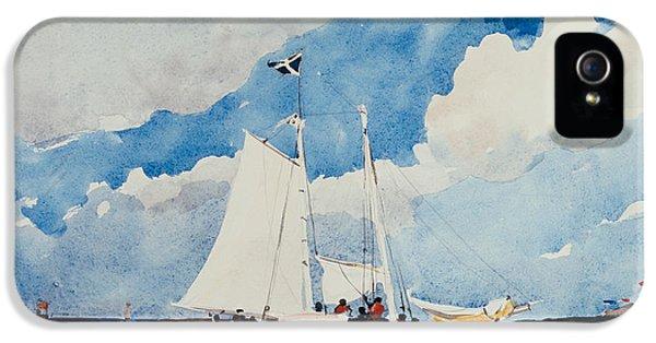 Homer iPhone 5 Cases - Fishing Schooner in Nassau iPhone 5 Case by Winslow Homer
