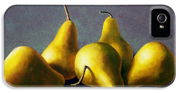 Food iPhone 5 Cases - Five Golden pears iPhone 5 Case by Frank Wilson