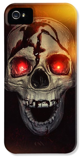 Thriller iPhone 5 Cases - Flame Eyes iPhone 5 Case by Joana Kruse