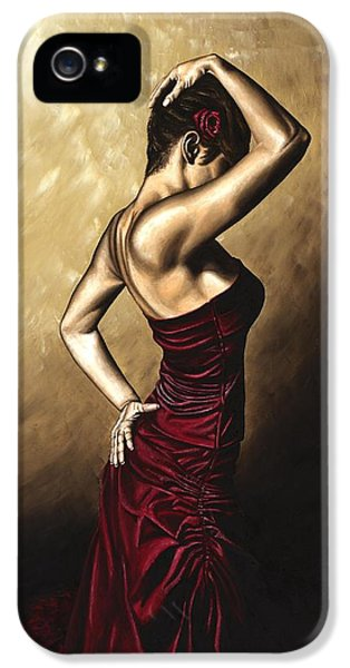 Dress iPhone 5 Cases - Flamenco Woman iPhone 5 Case by Richard Young