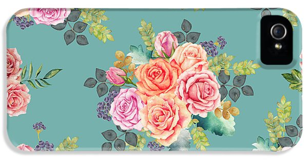 Floral Pattern 2 IPhone 5 / 5s Case by Stanley Wong