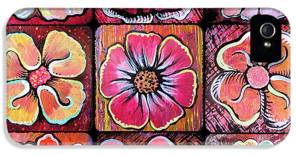 Flower Power Montage IPhone 5 / 5s Case by Shadia Derbyshire