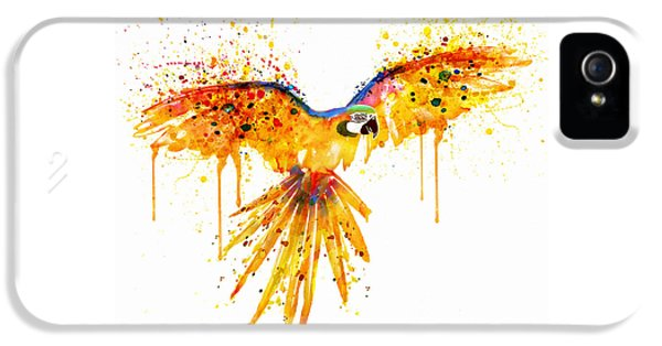 Flying Parrot Watercolor IPhone 5 / 5s Case by Marian Voicu