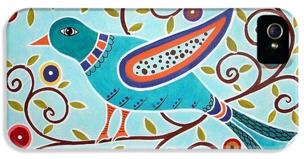 Folk Bird IPhone 5 / 5s Case by Karla Gerard