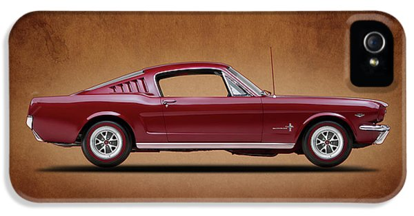 Ford Classic Car iPhone 5 Cases - Ford Mustang Fastback 1965 iPhone 5 Case by Mark Rogan