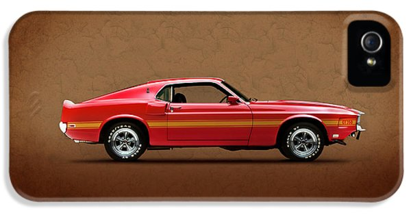 Ford Classic Car iPhone 5 Cases - Ford Mustang Shelby GT350 1969 iPhone 5 Case by Mark Rogan
