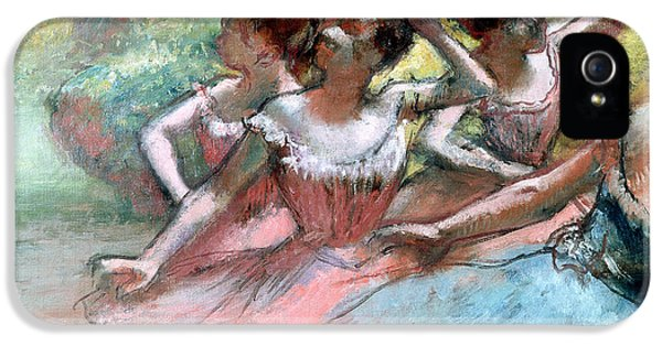 Four Ballerinas On The Stage IPhone 5 / 5s Case by Edgar Degas
