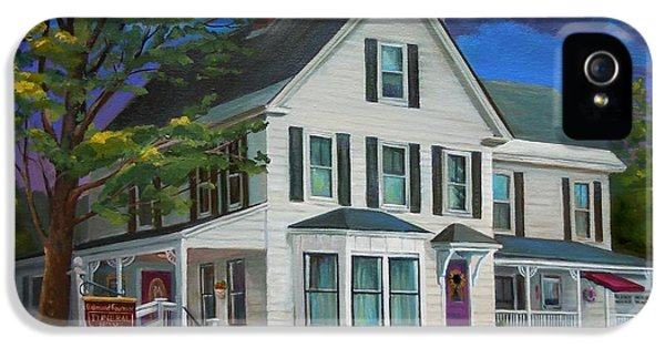 Oil House iPhone 5 Cases - Fournier Funeral Home iPhone 5 Case by Nancy Griswold