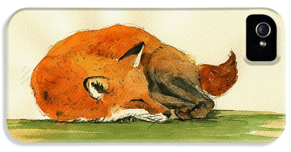 Fox Sleeping Painting IPhone 5 / 5s Case by Juan  Bosco