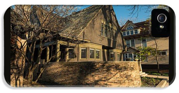 Historic Oak iPhone 5 Cases - Frank Lloyd Wright Home and Studio iPhone 5 Case by Steve Gadomski