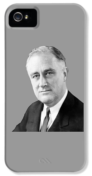 Three iPhone 5 Cases - Franklin Delano Roosevelt iPhone 5 Case by War Is Hell Store