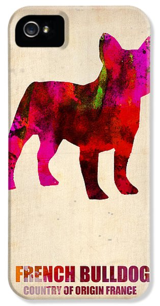 French Bulldog Poster IPhone 5 / 5s Case by Naxart Studio