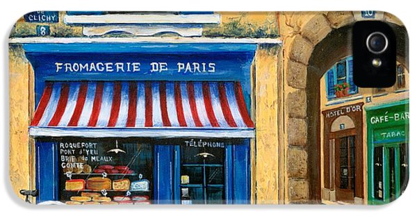 Street Scene iPhone 5 Cases - French Cheese Shop iPhone 5 Case by Marilyn Dunlap