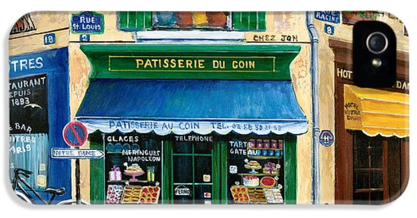 Street Scene iPhone 5 Cases - French Pastry Shop iPhone 5 Case by Marilyn Dunlap