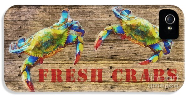 Crustacean iPhone 5 Cases - Fresh Crabs 2 iPhone 5 Case by Edward Fielding