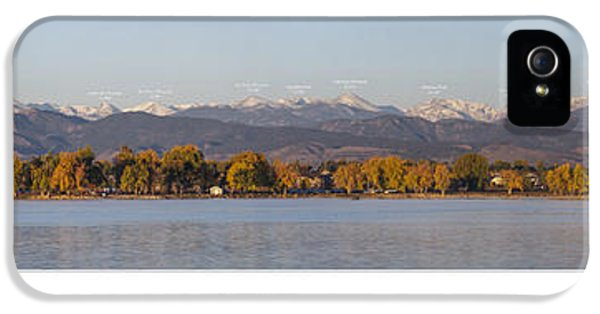 Front Range With Peak Labels IPhone 5 / 5s Case by Aaron Spong