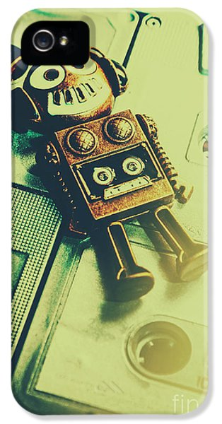 Funky Mixtape Robot IPhone 5 / 5s Case by Jorgo Photography - Wall Art Gallery