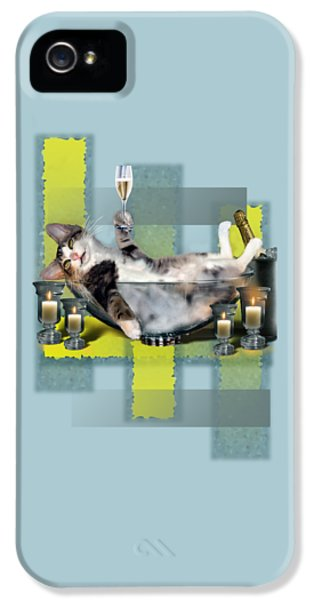 Funny Pet Print With A Tipsy Kitty  IPhone 5 / 5s Case by Regina Femrite