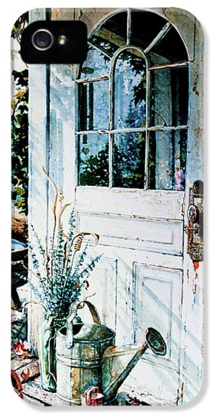 Potting Shed iPhone 5 Cases - Garden Chores iPhone 5 Case by Hanne Lore Koehler