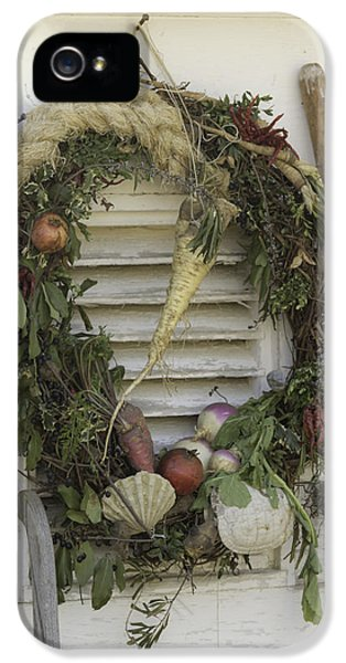 Potting Shed iPhone 5 Cases - Gardeners Wreath iPhone 5 Case by Teresa Mucha