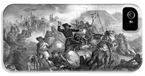 General Custer's Death Struggle  IPhone 5 / 5s Case by War Is Hell Store