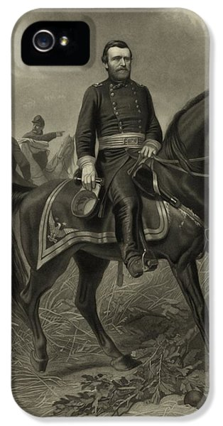 Grant iPhone 5 Cases - General Grant On Horseback  iPhone 5 Case by War Is Hell Store