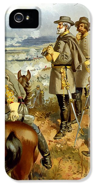 General Lee At The Battle Of Fredericksburg IPhone 5 / 5s Case by War Is Hell Store