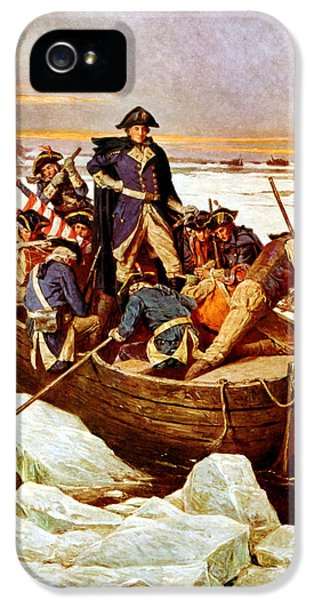 Continental iPhone 5 Cases - General Washington Crossing The Delaware River iPhone 5 Case by War Is Hell Store