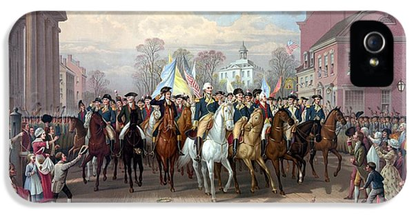 Continental iPhone 5 Cases - General Washington Enters New York iPhone 5 Case by War Is Hell Store