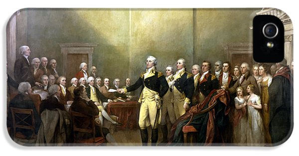 General Washington Resigning His Commission IPhone 5 / 5s Case by War Is Hell Store