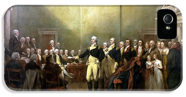 Continental iPhone 5 Cases - General Washington Resigning His Commission iPhone 5 Case by War Is Hell Store