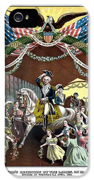 President iPhone 5 Cases - General Washingtons Reception At Trenton iPhone 5 Case by War Is Hell Store