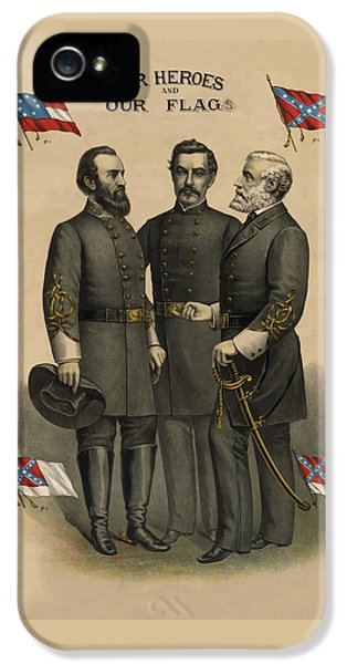 Generals Jackson Beauregard And Lee IPhone 5 / 5s Case by War Is Hell Store