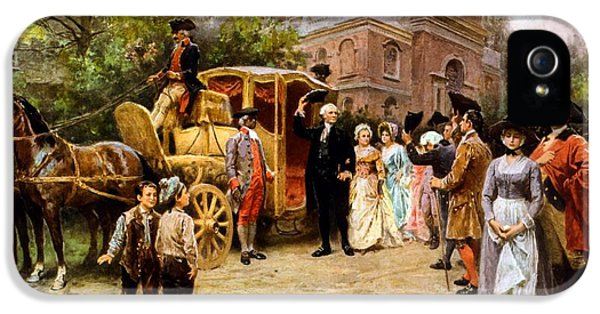 George Washington Arriving At Christ Church IPhone 5 / 5s Case by War Is Hell Store