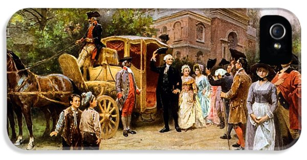 Continental iPhone 5 Cases - George Washington arriving at Christ Church iPhone 5 Case by War Is Hell Store