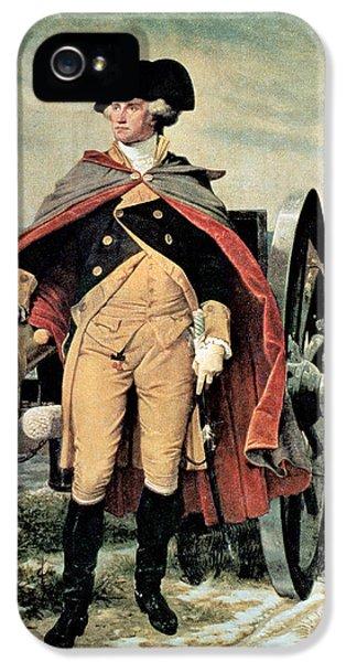 George Washington At Dorchester Heights IPhone 5 / 5s Case by Emanuel Gottlieb Leutze