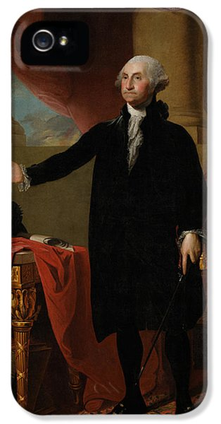 American Revolution iPhone 5 Cases - George Washington Lansdowne Portrait iPhone 5 Case by War Is Hell Store