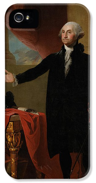 Us iPhone 5 Cases - George Washington Lansdowne Portrait iPhone 5 Case by War Is Hell Store
