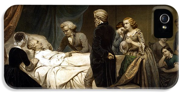 Continental iPhone 5 Cases - George Washington On His Deathbed iPhone 5 Case by War Is Hell Store