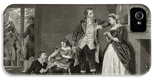 George Washington's First Interview With Mrs Martha Custis IPhone 5 / 5s Case by Alonzo Chappel