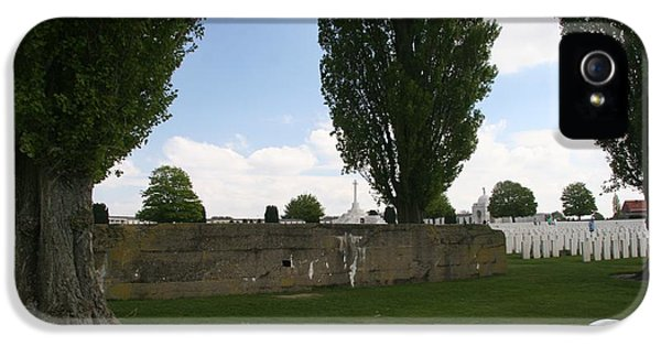 IPhone 5 / 5s Case featuring the photograph German Bunker At Tyne Cot Cemetery by Travel Pics
