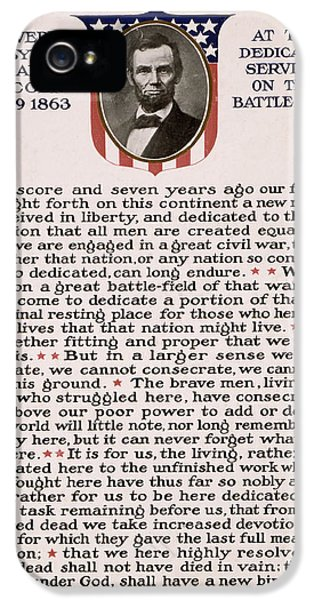 Gettysburg Address IPhone 5 / 5s Case by International  Images