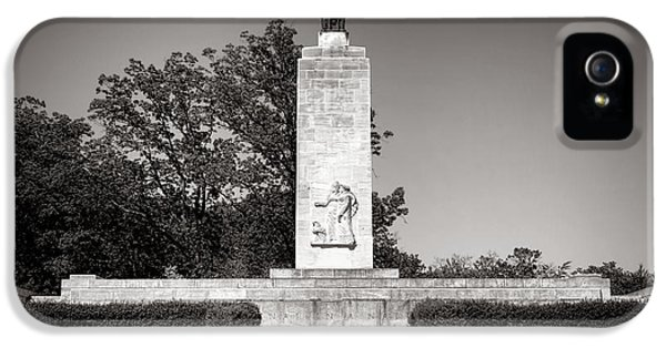 Historic Oak iPhone 5 Cases - Gettysburg National Park Eternal Light Peace Monument iPhone 5 Case by Olivier Le Queinec